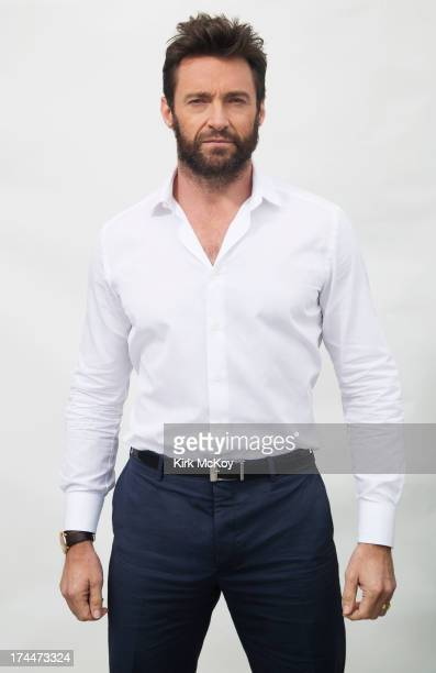 Actor Hugh Jackman is photographed at Comic Con for Los Angeles Times on July 25 2013 in San Diego California PUBLISHED IMAGE CREDIT MUST BE Kirk...