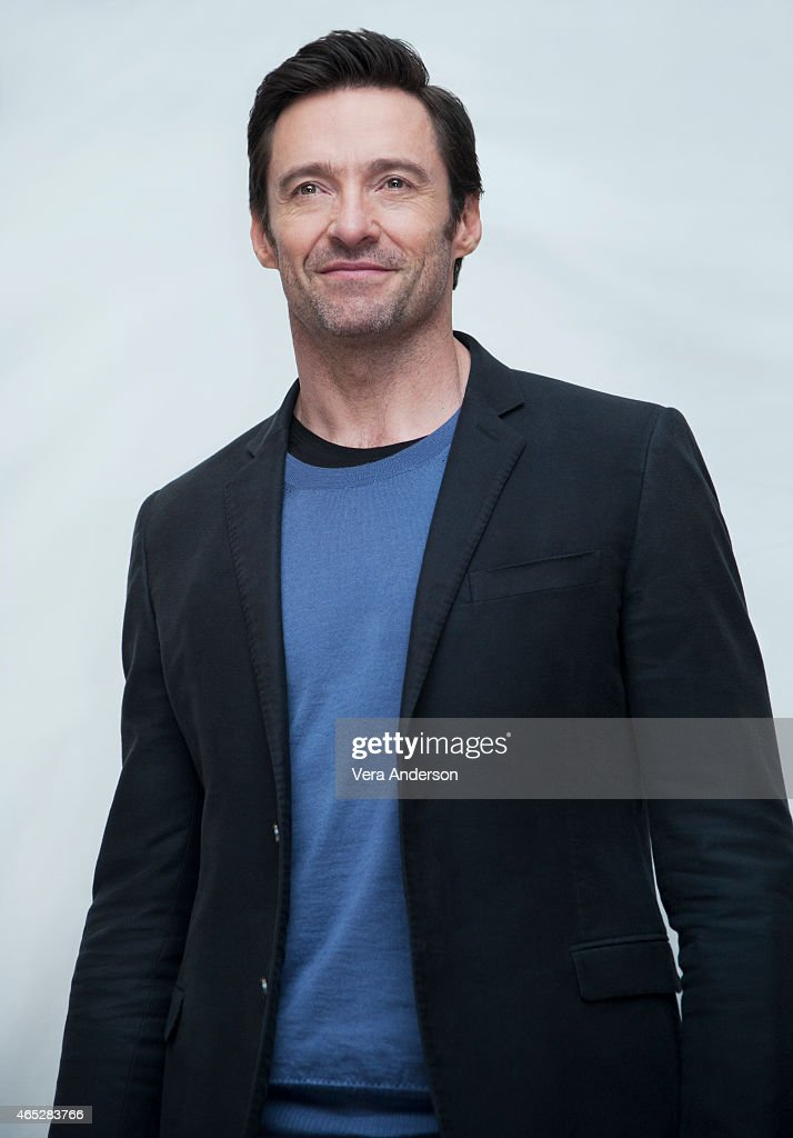 Actor Hugh Jackman is photographed for a portrait call for 'Chappie' at the Crosby Hotel on February 10, 2015 in New York City.