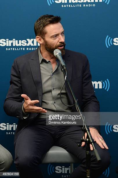 Actor Hugh Jackman of X-MEN: DAYS OF FUTURE PAST participates in the SiriusXM Town Hall at the SiriusXM Studios on May 21, 2014 in New York City.