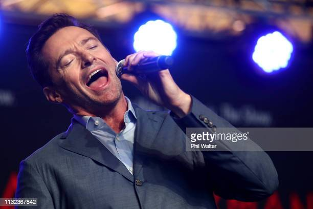 Actor Hugh Jackman performs with students from AUT's South Campus on February 27, 2019 in Auckland, New Zealand. Hugh Jackman has confirmed he is...