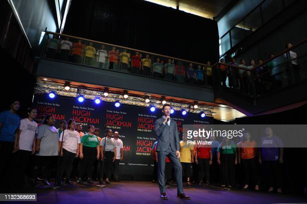 Actor Hugh Jackman performs with students from AUT's South Campus on February 27 2019 in Auckland New Zealand Hugh Jackman has confirmed he is...