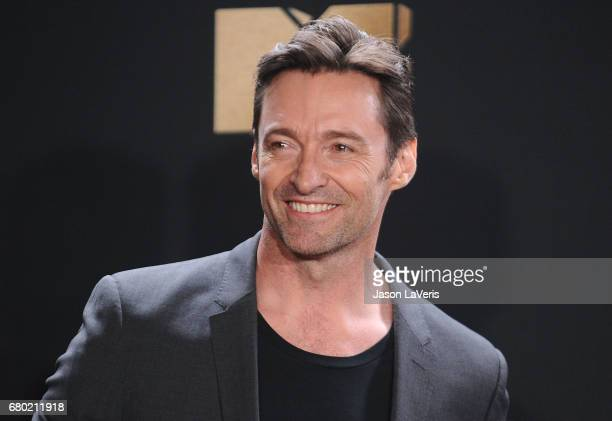 Actor Hugh Jackman poses in the press room at the 2017 MTV Movie and TV Awards at The Shrine Auditorium on May 7 2017 in Los Angeles California