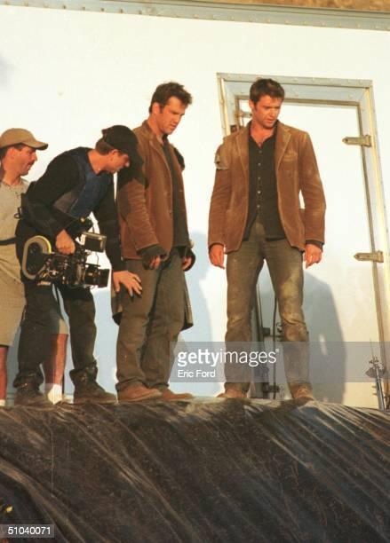 Actor Hugh Jackman Prepares To Film A Scene For Swordfish November 2000 In San Pedro Ca