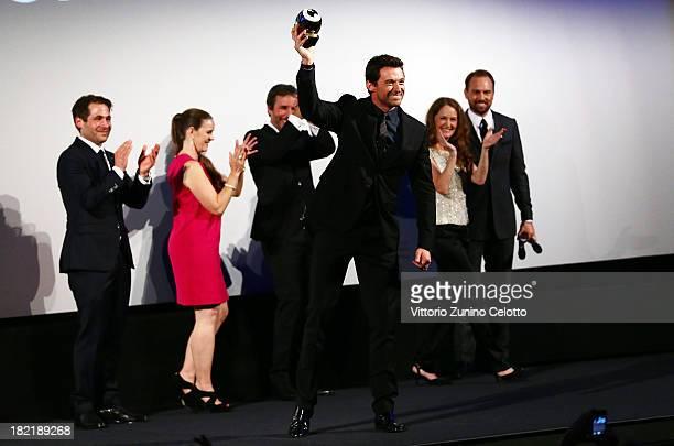 Actor Hugh Jackman receives the Golden Icon during the Zurich Film Festival 2013on September 28 2013 in Zurich Switzerland
