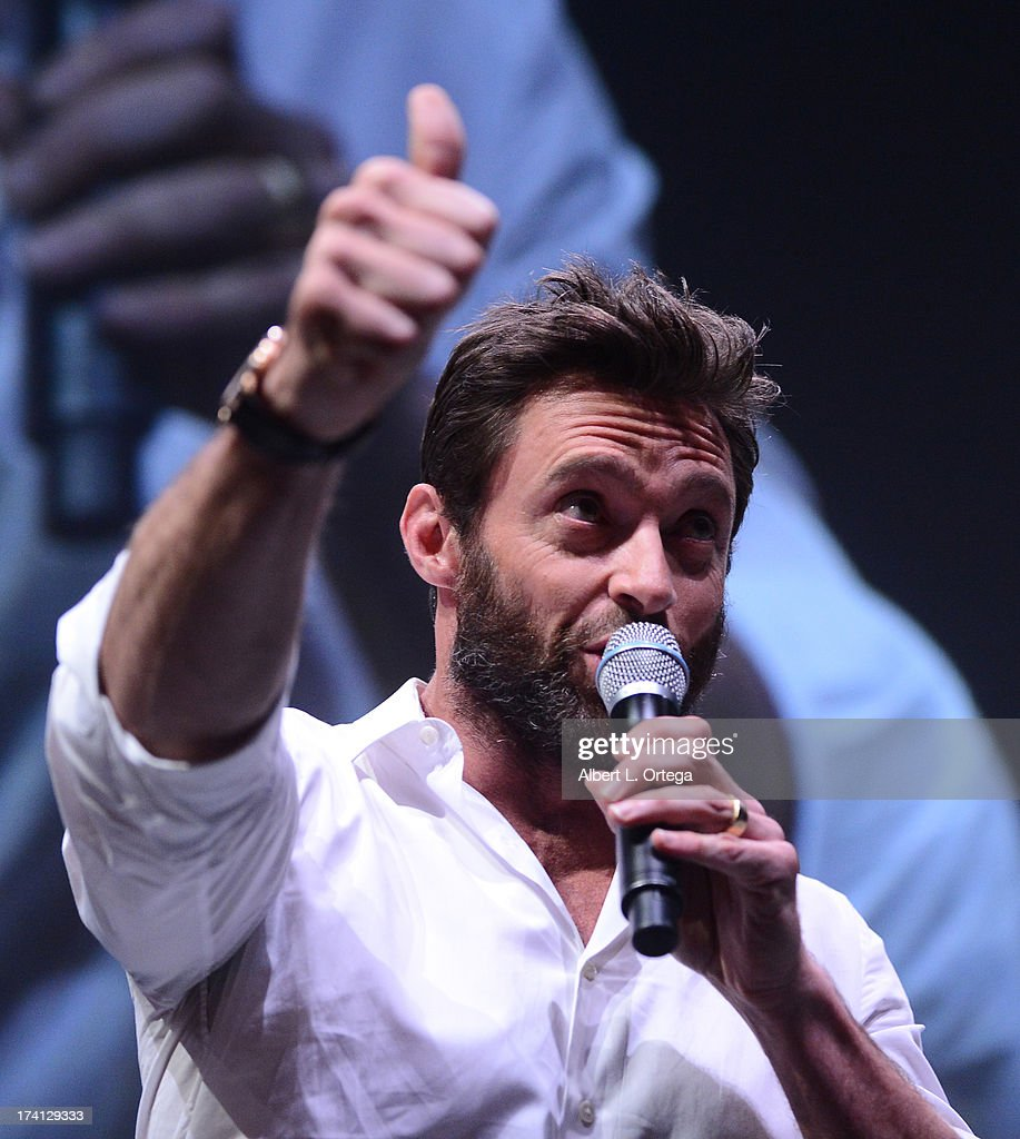 Actor Hugh Jackman speaks at the 20th Century Fox 'X-Men: Days of Future Past' panel during Comic-Con International 2013 at San Diego Convention Center on July 20, 2013 in San Diego, California.