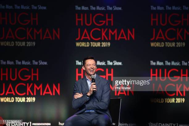 Actor Hugh Jackman speaks to media at AUT's South Campus on February 27 2019 in Auckland New Zealand Hugh Jackman has confirmed he is bringing his...