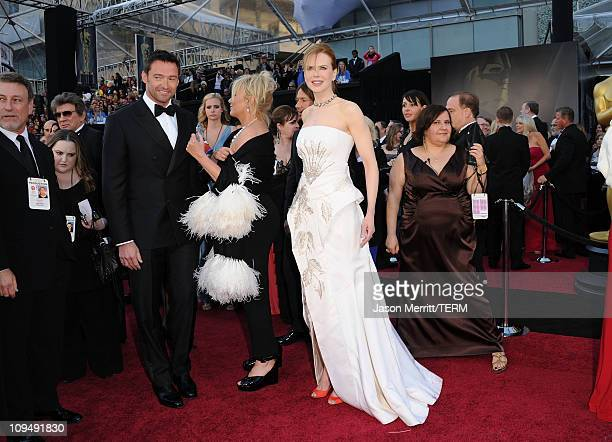 Actor Hugh Jackman wife DeborraLee Furness singer Keith Urban and actress Nicole Kidman arrive at the 83rd Annual Academy Awards held at the Kodak...
