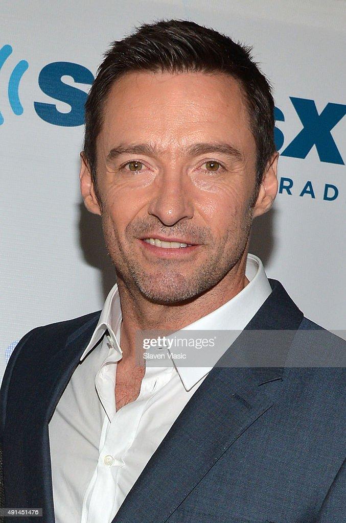 Actor Hugh JackmanÊvisits Entertainment Radio at SiriusXM Studios on October 5, 2015 in New York City.