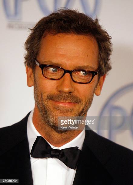 Actor Hugh Laurie arrives at the 18th Annual Producer Guild Awards at the Hyatt Regency Century Plaza Hotel on January 20 2007 in Los Angeles...