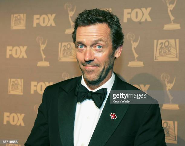 Actor Hugh Laurie arrives at the 20th Century Fox Television Emmy after party held at Spago on September 18 2005 in Beverly Hills California