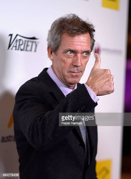 Actor Hugh Laurie arrives at the 4th Annual Australians In Film Awards Benefit Dinner And Gala at InterContinental Hotel on October 25 2015 in...