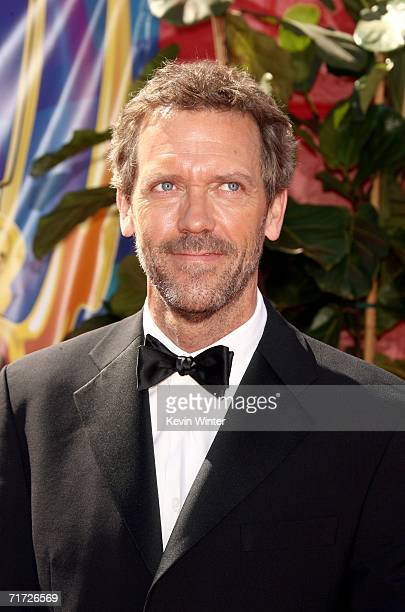 Actor Hugh Laurie arrives at the 58th Annual Primetime Emmy Awards at the Shrine Auditorium on August 27 2006 in Los Angeles California