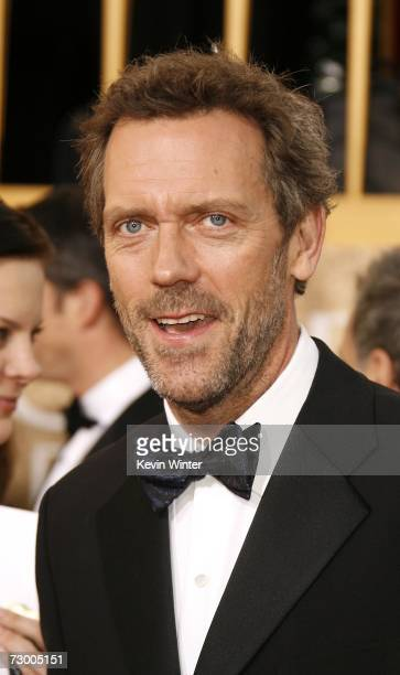 Actor Hugh Laurie arrives at the 64th Annual Golden Globe Awards at the Beverly Hilton on January 15 2007 in Beverly Hills California
