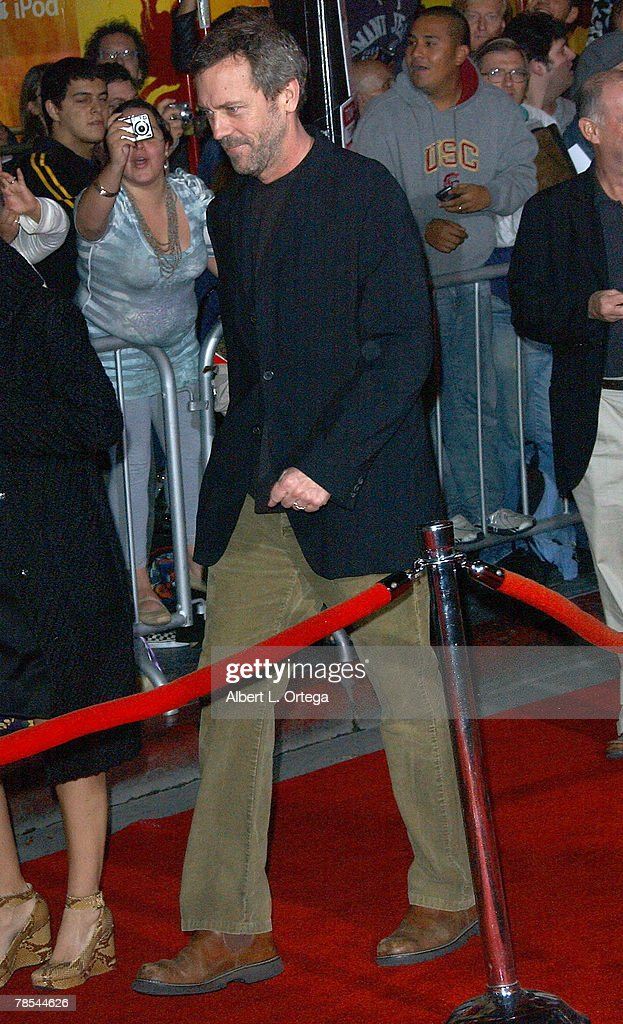Actor Hugh Laurie arrives at the Miramax Films' Los Angeles Premiere of 'No Country For Old Men' at the El Capitan Theater in Hollywood, California.