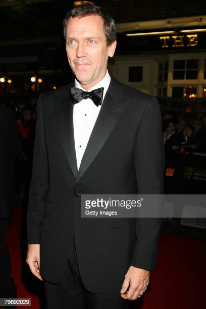 Actor Hugh Laurie arrives at the Orange British Academy Film Awards at the Royal Opera House on February 10 2008 in London England