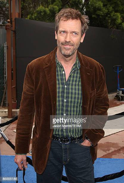 Actor Hugh Laurie arrives at the premiere of Dreamworks' 'Monsters Vs Aliens' held at the Gibson Amphitheatre on March 22 2009 in Universal City...