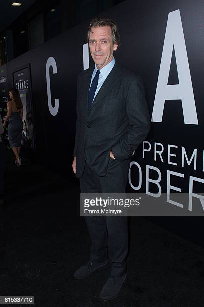 Actor Hugh Laurie arrives at the premiere of Hulu's 'Chance' at Harmony Gold Theatre on October 17 2016 in Los Angeles California
