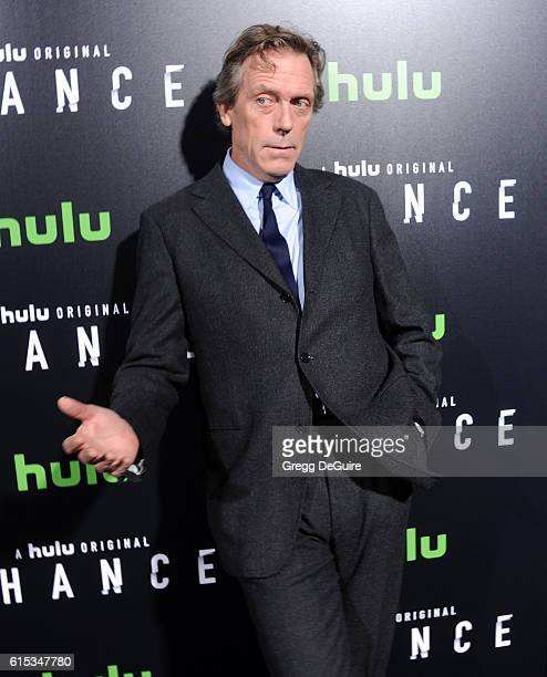 Actor Hugh Laurie arrives at the premiere of Hulu's Chance at Harmony Gold Theatre on October 17 2016 in Los Angeles California