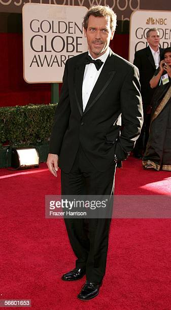 Actor Hugh Laurie arrives to the 63rd Annual Golden Globe Awards at the Beverly Hilton on January 16 2006 in Beverly Hills California
