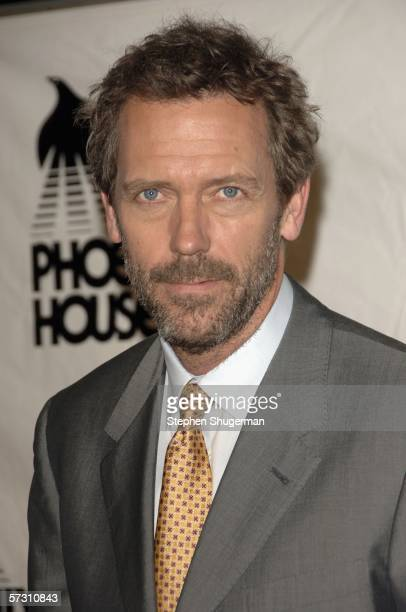 Actor Hugh Laurie attends Cast and Producers of House honored at Phoenix House Awards at the Four Seasons Hotel on April 10 2006 in Los Angeles...