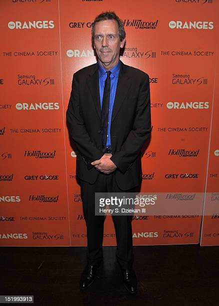 Actor Hugh Laurie attends The Cinema Society with The Hollywood Reporter Samsung Galaxy S III screening of 'The Oranges' at Tribeca Grand Hotel on...