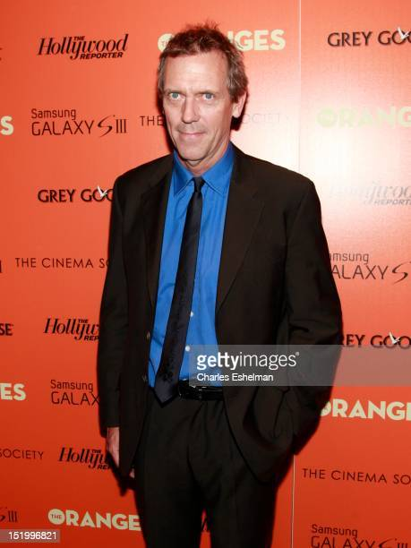 Actor Hugh Laurie attends The Cinema Society with The Hollywood Reporter Samsung Galaxy S III host a screening of 'The Oranges' at Tribeca Screening...