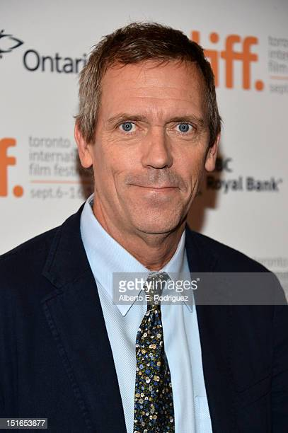Actor Hugh Laurie attends the 'Mr Pip' premiere during the 2012 Toronto International Film Festival at Winter Garden Theatre on September 9 2012 in...