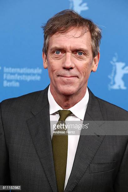 Actor Hugh Laurie attends the 'The Night Manager' premiere during the 66th Berlinale International Film Festival Berlin at Haus der Berlinale on...