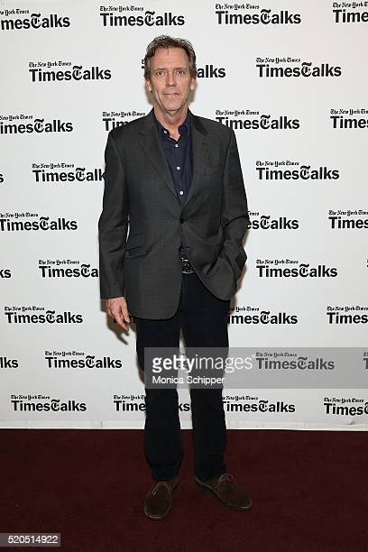 Actor Hugh Laurie attends TimesTalks Presents The Night Manager at The Times Center on April 11 2016 in New York City