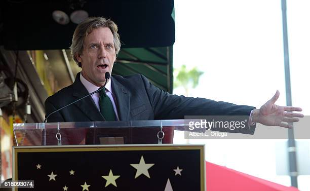 Actor Hugh Laurie Honored With Star On The Hollywood Walk Of Fame held on October 25 2016 in Hollywood California