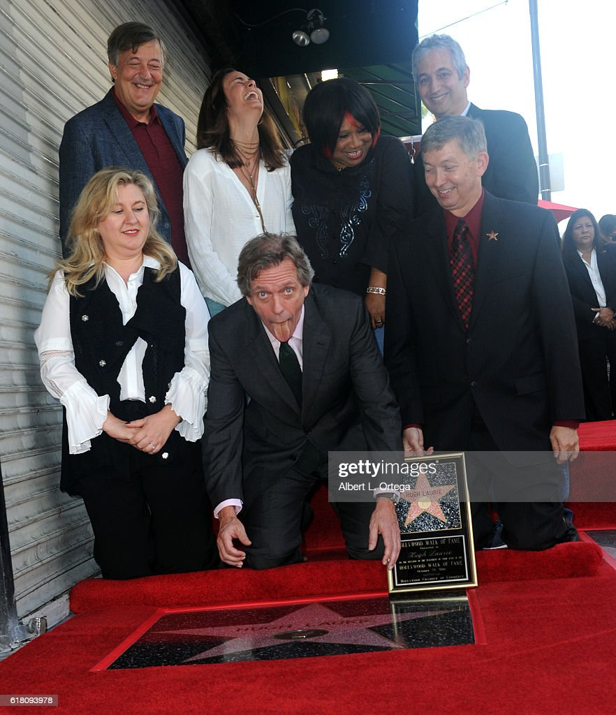 Actor Hugh Laurie Honored With Star On The Hollywood Walk Of Fame held on October 25, 2016 in Hollywood, California.
