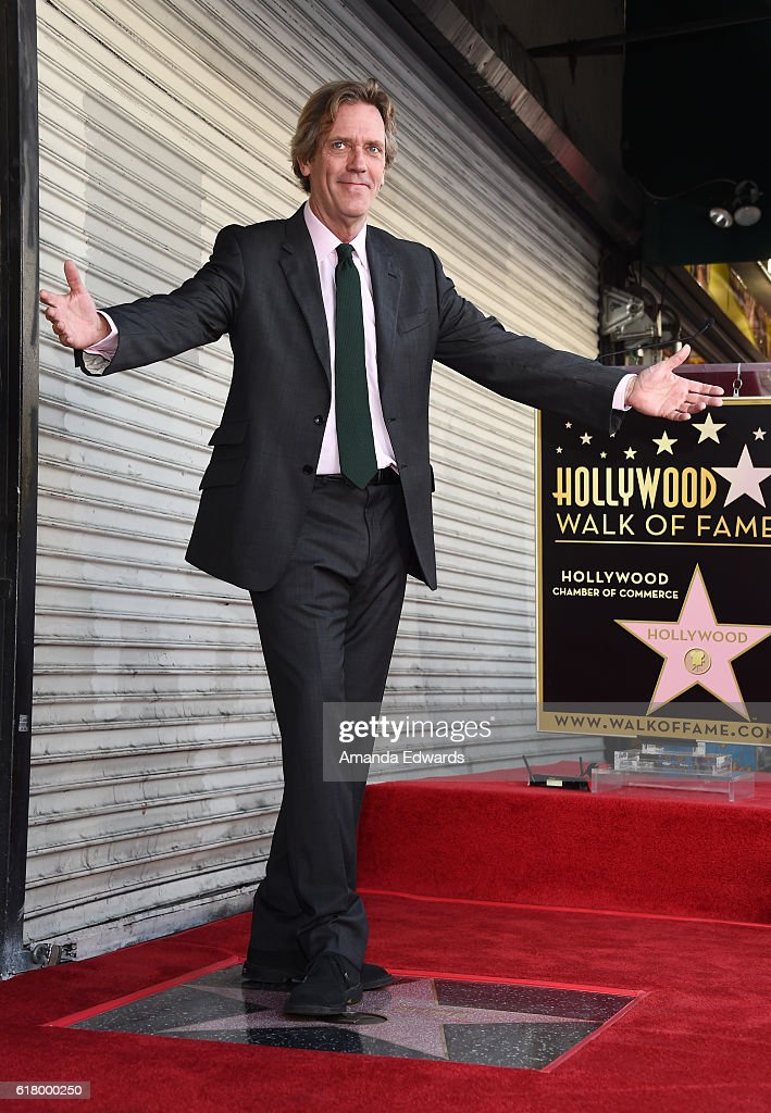 Actor Hugh Laurie is honored with a Star on The Hollywood Walk of Fame on October 25, 2016 in Hollywood, California.