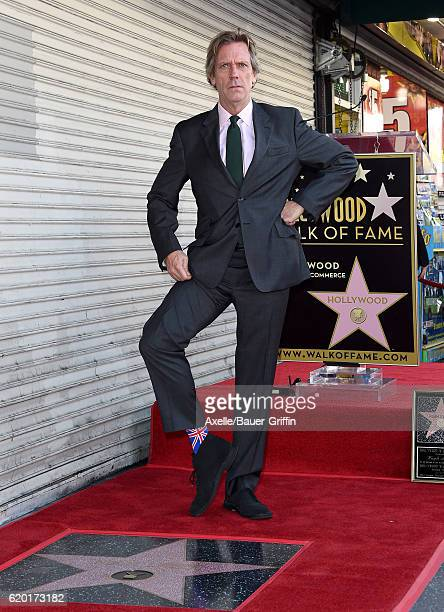 Actor Hugh Laurie is honored with star on the Hollywood Walk of Fame on October 25 2016 in Hollywood California