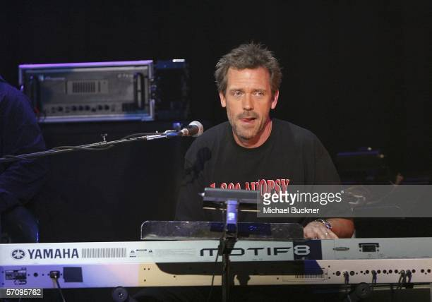 Actor Hugh Laurie of 169 performs at the Evening with Ray Kennedy and Friends hosted by the Guitar Center Music Foundation at the Avalon on March 14...