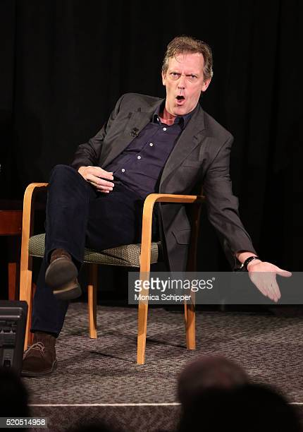 Actor Hugh Laurie speaks at TimesTalks Presents The Night Manager at The Times Center on April 11 2016 in New York City