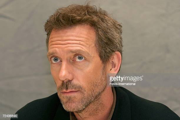 Actor Hugh Laurie talks at the Four Seasons Hotel on October 6 2006 in Los Angeles California