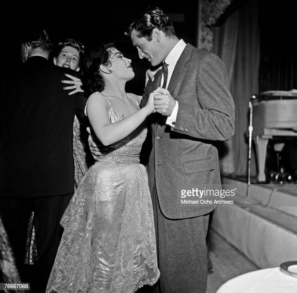 Actor Hugh O'Brian dances at Ciro's nightclub, a famous watering hole for the Hollywood elite along the Sunset Strip, on May 10 in Hollywood,...