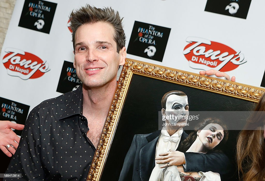 Actor Hugh Panaro attends the 'Phantom Of The Opera' portrait unveiling at Tony's di Napoli on April 3, 2013 in New York City.