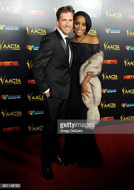 Actor Hugh Sheridan and guest arrive at the 6th AACTA International Awards at Avalon Hollywood on January 6 2017 in Los Angeles California
