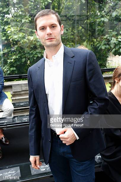 Actor Hugo Becker attends Cerruti Menswear Spring/Summer 2014 Show As Part Of The Paris Fashion Week held at Institute for young deaf on June 28 2013...