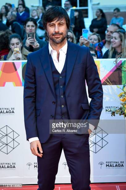 Actor Hugo Silva attends the Malaga Film Festival 2019 closing day gala at Cervantes Theater on March 23 2019 in Malaga Spain