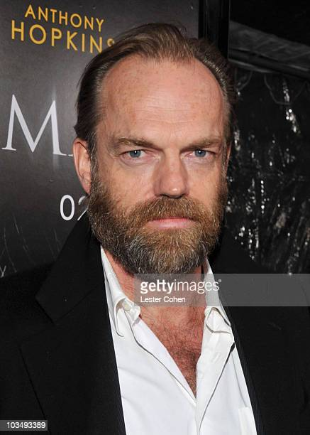 Actor Hugo Weaving arrives at the The Wolfman Los Angeles Premiere held at ArcLight Hollywood Cinemas on February 9 2010 in Hollywood California