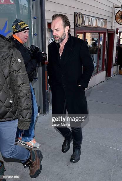 Actor Hugo Weaving attends Sorel around Park City on January 24 2015 in Park City Utah