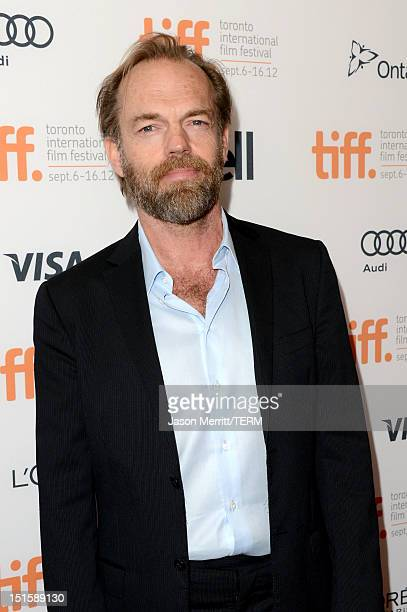 Actor Hugo Weaving attends the Cloud Atlas premiere during the 2012 Toronto International Film Festivalon at the Princess of Wales Theatre on...