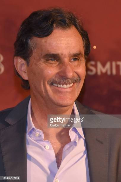 Actor Humberto Zurita smiles during a press conference organized by Buchanan's Whiskey as part of a campaign to celebrate father's day at Hotel...