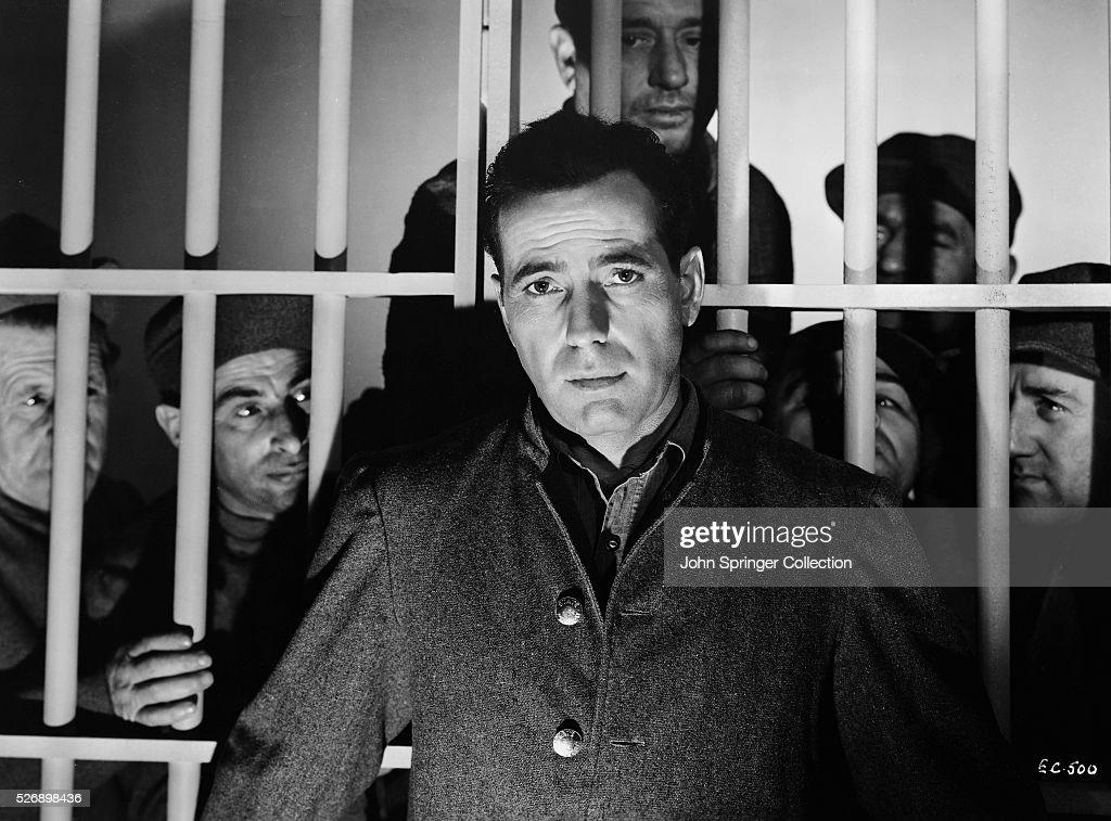 Actor Humphrey Bogart as Joseph 'Duke' Berne in the 1942 film The Big Shot.