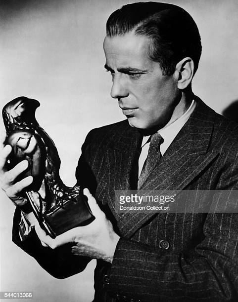 Actor Humphrey Bogart poses for a publicity still for the Warner Bros film 'The Maltese Falcon' in 1941 in Los Angeles California