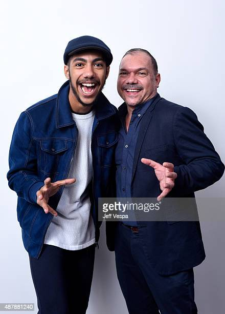 Actor Hunter PageLochard and director Stephen Page from Spear pose for a portrait during the 2015 Toronto International Film Festival at the TIFF...