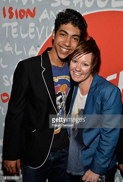 "Actor Hunter Page-Lochard and writer/director Sarah Spillane attends the Australians In Film Screening Of ""Around The Block"" at Raleigh Studios on..."