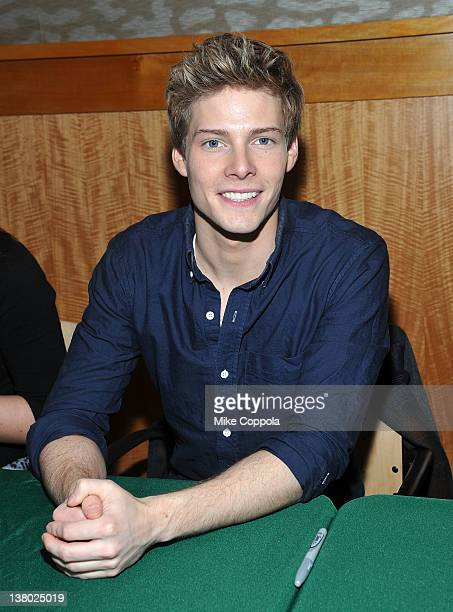 Actor Hunter Parrish promotes Broadway's cast recording of Godspell at Barnes Noble 86th Lexington on January 31 2012 in New York United States